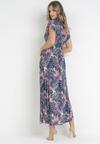 Granatowo-Różowa Sukienka Adriafa