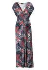 Granatowo-Czerwona Sukienka Adriafa