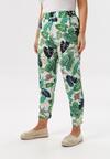 Biało-Zielone Spodnie Adrira