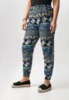 Czarno-Niebieskie Spodnie Loraenne