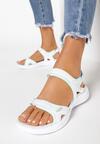 Biało-Miętowe Sandały Mereda