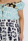 Biało-Niebieska Sukienka Alcyone