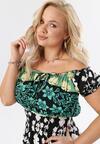 Czarno-Zielona Sukienka Alcyone