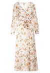 Biało-Pomarańczowa Sukienka Doryrianne