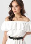 Biała Sukienka Physamellia