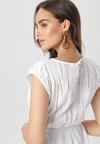 Biała Sukienka Savameine