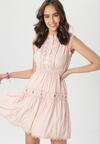 Jasnoróżowa Sukienka Clathyia