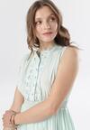 Miętowa Sukienka Clathyia