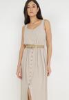 Jasnobeżowa Sukienka Cherinoe
