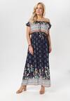 Granatowa Sukienka Asteoliria