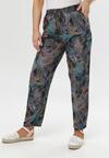 Granatowo-Zielone Spodnie Borthusa