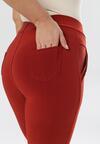 Bordowe Spodnie Bririal