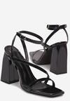 Czarne Sandały Aerenora