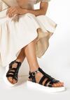 Czarne Sandały Chenethea
