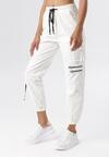 Białe Spodnie Bojówki Petothilei