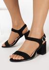 Czarne Sandały Halime