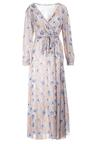 Beżowo-Niebieska Sukienka Doryrianne