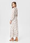 Biało-Beżowa Sukienka Doryrianne