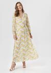 Biało-Żółta Sukienka Doryrianne