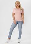 Różowy T-shirt Ephesine