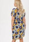 Żółto-Niebieska Sukienka Callalise