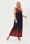 Granatowo-Czerwona Sukienka Aquavien