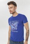 Ciemnoniebieska Koszulka Adrievia