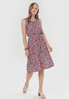 Granatowo-Różowa Sukienka Rhenemeni