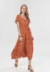 Pomarańczowa Sukienka Nerirena