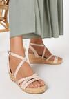 Beżowe Sandały Asigonia