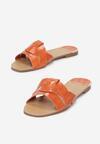 Pomarańczowe Klapki Yaney