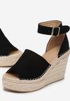 Czarne Sandały Phianisse