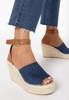 Granatowe Sandały Phianisse