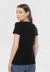 Czarny T-shirt Himephise