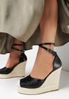 Czarne Sandały Rhenethe