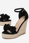 Czarne Sandały Daphnilla