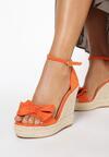 Pomarańczowe Sandały Daphnilla