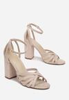 Beżowe Sandały Chenelura