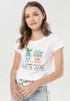 Biały T-shirt Saloronis