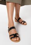 Czarne Sandały Delasura