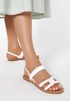 Białe Sandały Delasura