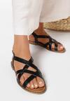 Czarne Sandały Fontarian