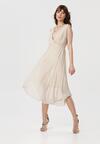 Beżowa Sukienka Dorealure