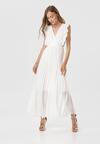 Biała Sukienka Elulia