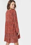 Granatowo-Beżowa Sukienka Loraemora