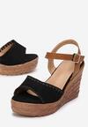 Czarne Sandały Leucokaia