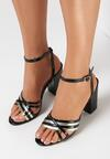 Czarne Sandały Adresea