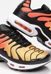 Czarno-Pomarańczowe Buty Sportowe Mellora