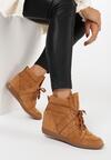 Camelowe Sneakersy Assala