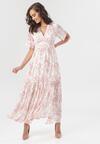 Biało-Różowa Sukienka Jenieneva